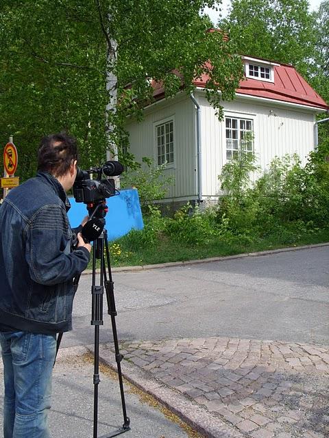Heikki Ahonen tekee YLEn uutisia 24.5.2011